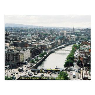 Horizonte de la ciudad de Dublín, puente de O'Conn Tarjeta Postal