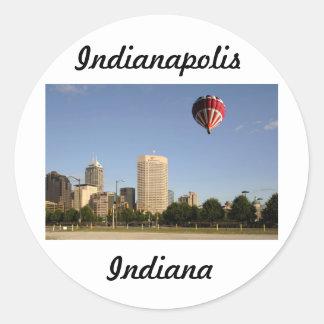 Horizonte de la ciudad de Indianapolis Pegatina Redonda