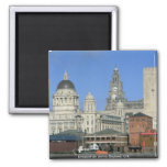 Horizonte de la ciudad de Liverpool, Inglaterra, R Iman Para Frigorífico