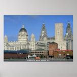 Horizonte de la ciudad de Liverpool, Inglaterra, R Impresiones