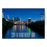 Horizonte de la ciudad de Philadelphia en la Tarjeta De Felicitación