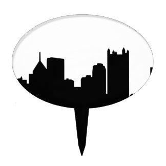 Horizonte de la ciudad de Pittsburgh Figuras Para Tartas
