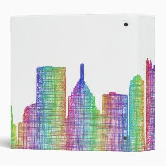 """Horizonte de la ciudad de Pittsburgh Carpeta 1 1/2"""""""