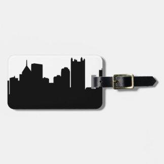 Horizonte de la ciudad de Pittsburgh Etiqueta De Maleta