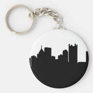 Horizonte de la ciudad de Pittsburgh Llavero Redondo Tipo Pin