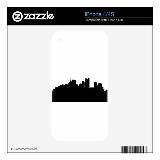 Horizonte de la ciudad de Pittsburgh Calcomanía Para El iPhone 4S