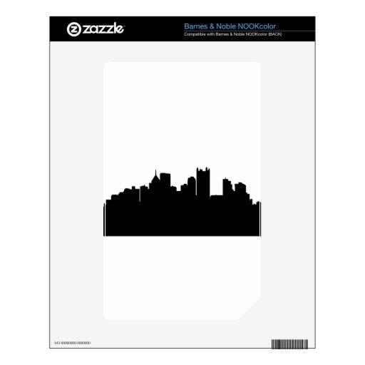 Horizonte de la ciudad de Pittsburgh NOOK Color Skin