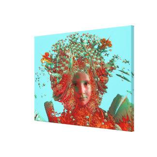 Horizonte de la flor impresión en lienzo