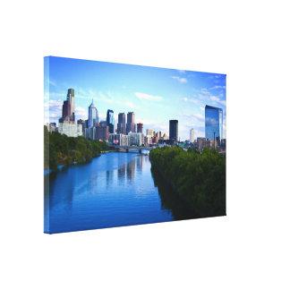 Horizonte de la impresión de la lona de Philadelph Impresión En Lona Estirada