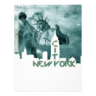 Horizonte de la libertad de New York City Membrete Personalizado