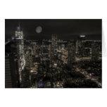 Horizonte de la noche de New York City Tarjeta De Felicitación