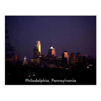 Horizonte de la noche de Philadelphia, Pennsylvani Tarjetas Postales