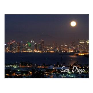 Horizonte de la noche de San Diego Tarjetas Postales