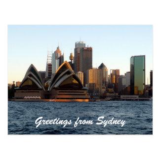 horizonte de la ópera de Sydney Tarjeta Postal