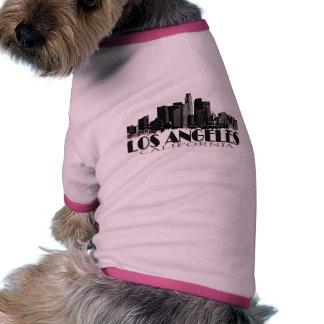 Horizonte de la oscuridad de Los Ángeles Californi Camisa De Perro