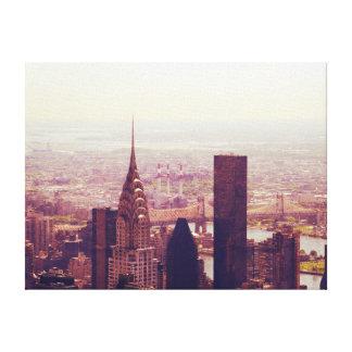 Horizonte de la parte alta de Nueva York, NYC Impresion De Lienzo