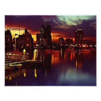 Horizonte de la puesta del sol de San Diego Fotografía