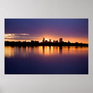 Horizonte de la salida del sol de Denver Póster