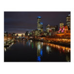 Horizonte de la tarde de Melbourne Postales