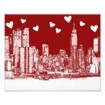 horizonte de la tarjeta del día de San Valentín NY Fotografía