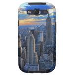 Horizonte de la última hora de la tarde NYC como a Galaxy S3 Funda
