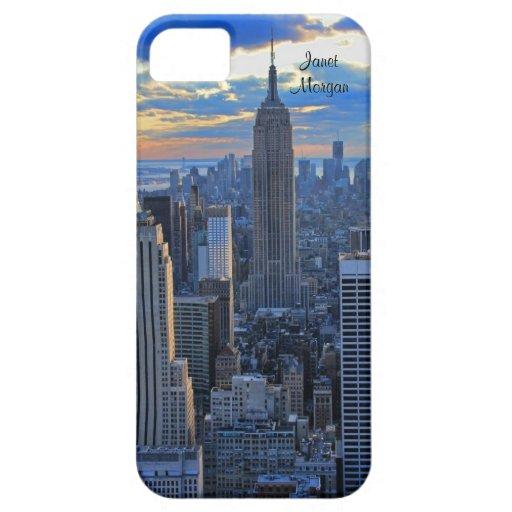 Horizonte de la última hora de la tarde NYC como iPhone 5 Funda