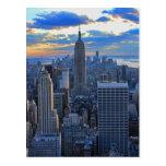Horizonte de la última hora de la tarde NYC como Tarjetas Postales