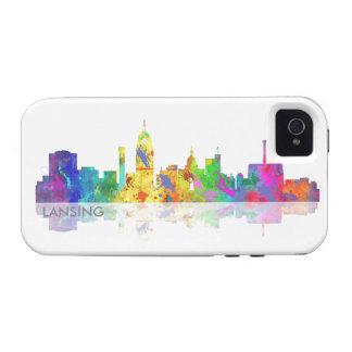 HORIZONTE de LANSING, MICHIGAN - almohada de tiro iPhone 4 Carcasas
