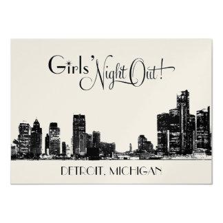 Horizonte de las invitaciones el   Detroit del Invitación 11,4 X 15,8 Cm