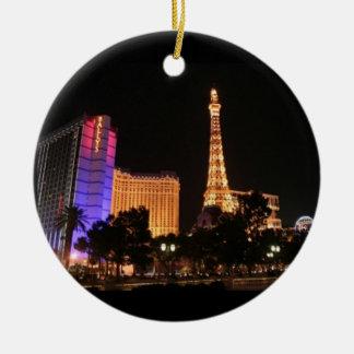 Horizonte de Las Vegas Adorno Navideño Redondo De Cerámica