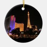 Horizonte de Las Vegas Adorno Redondo De Cerámica
