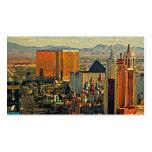 Horizonte de Las Vegas del vintage Tarjetas De Visita