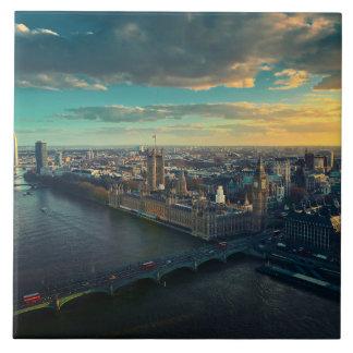 Horizonte de Londres Azulejo Cuadrado Grande