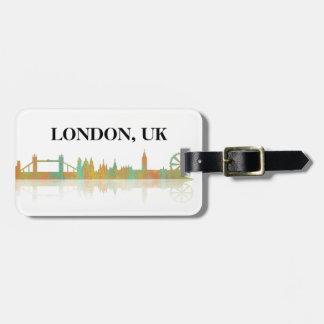 HORIZONTE de LONDRES - etiqueta del equipaje Etiqueta Para Maleta