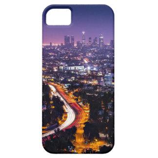 Horizonte de Los Ángeles, California en la noche Funda Para iPhone 5 Barely There