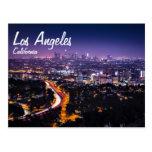 Horizonte de Los Ángeles, California en la noche Tarjetas Postales
