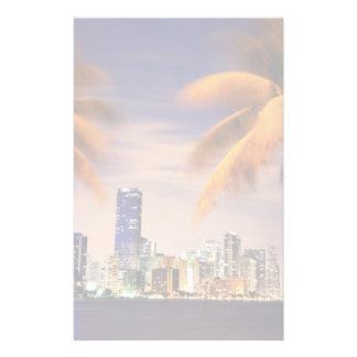 Horizonte de los E E U U la Florida Miami en la Papelería Personalizada