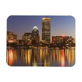 Horizonte de los E E U U Massachusetts Boston e Imán Rectangular