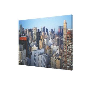 Horizonte de los E.E.U.U., New York City, Manhatta Lienzo Envuelto Para Galerías