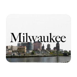 Horizonte de los WI de Milwaukee con Milwaukee en  Iman Rectangular