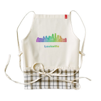 Horizonte de Louisville del arco iris Delantal Zazzle HEART