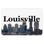 Horizonte de Louisville KY con Louisville en el ci Imán De Vinilo