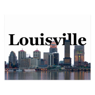 Horizonte de Louisville KY con Louisville en el ci Postal