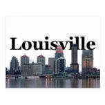 Horizonte de Louisville KY con Louisville en el Postal