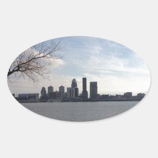 Horizonte de Louisville Pegatina Ovalada