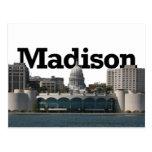Horizonte de Madison Wisconsin con Madison en el Tarjetas Postales