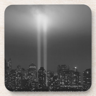 Horizonte de Manhattan con 9/11, New York City Posavasos De Bebida
