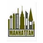 Horizonte de Manhattan con los recortes, el gris y Postales