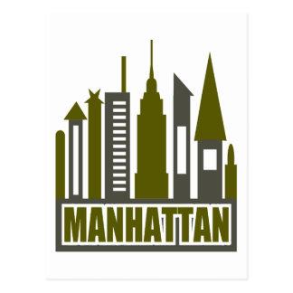 Horizonte de Manhattan con los recortes el gris y Postales