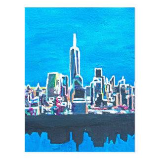 Horizonte de Manhattan New York City con 1wtc Postal